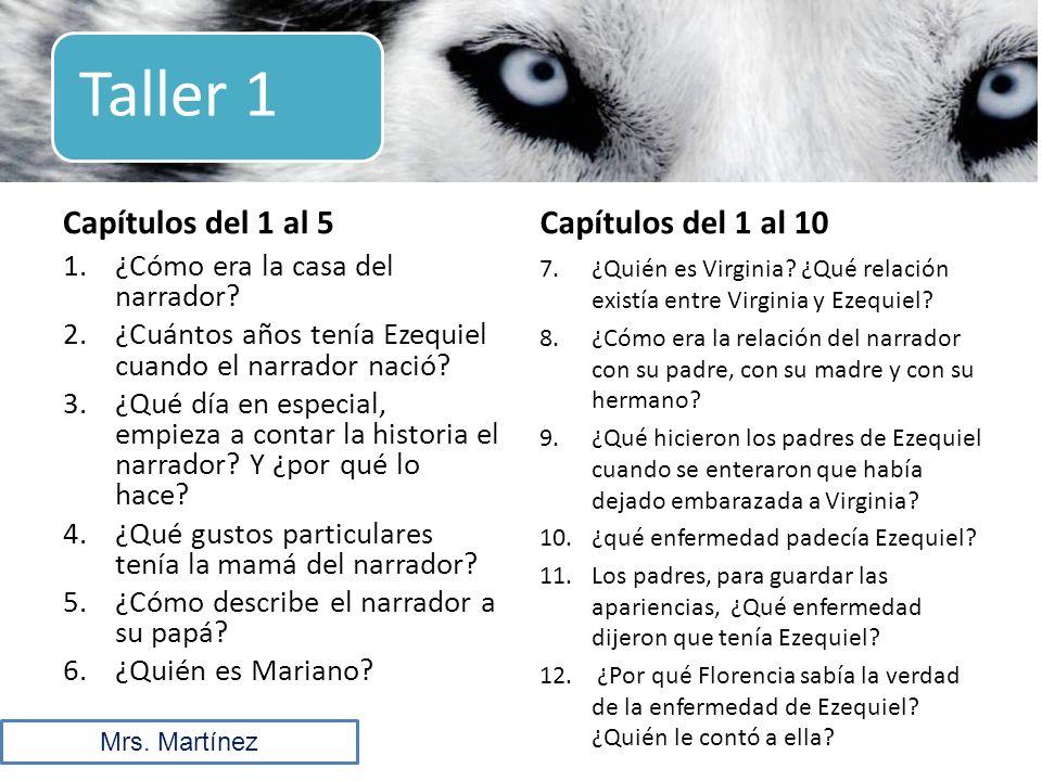 Taller 1 Capítulos del 1 al 5 Capítulos del 1 al 10