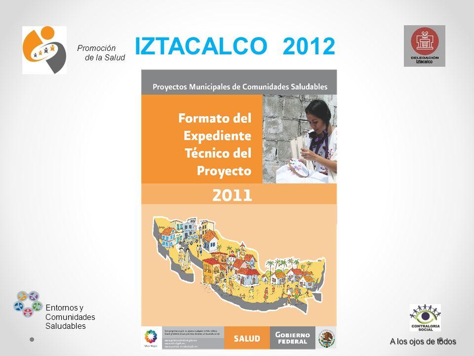 IZTACALCO 2012 Promoción de la Salud Entornos y Comunidades Saludables