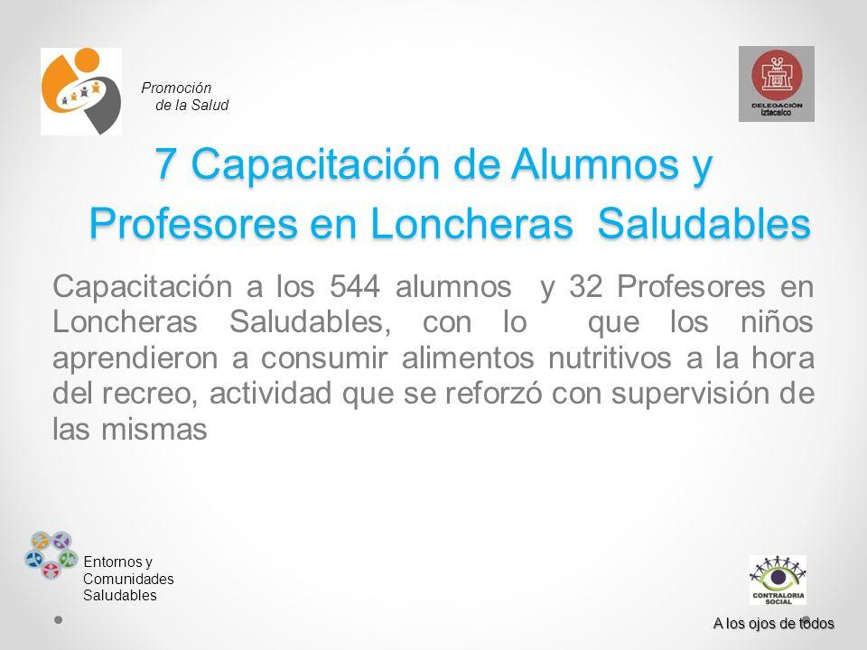 7 Capacitación de Alumnos y Profesores en Loncheras Saludables