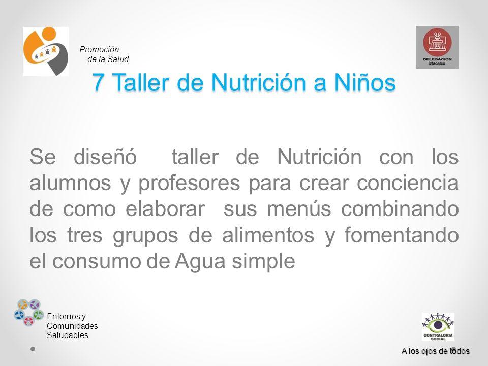 7 Taller de Nutrición a Niños