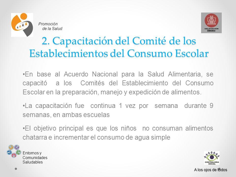 2. Capacitación del Comité de los Establecimientos del Consumo Escolar