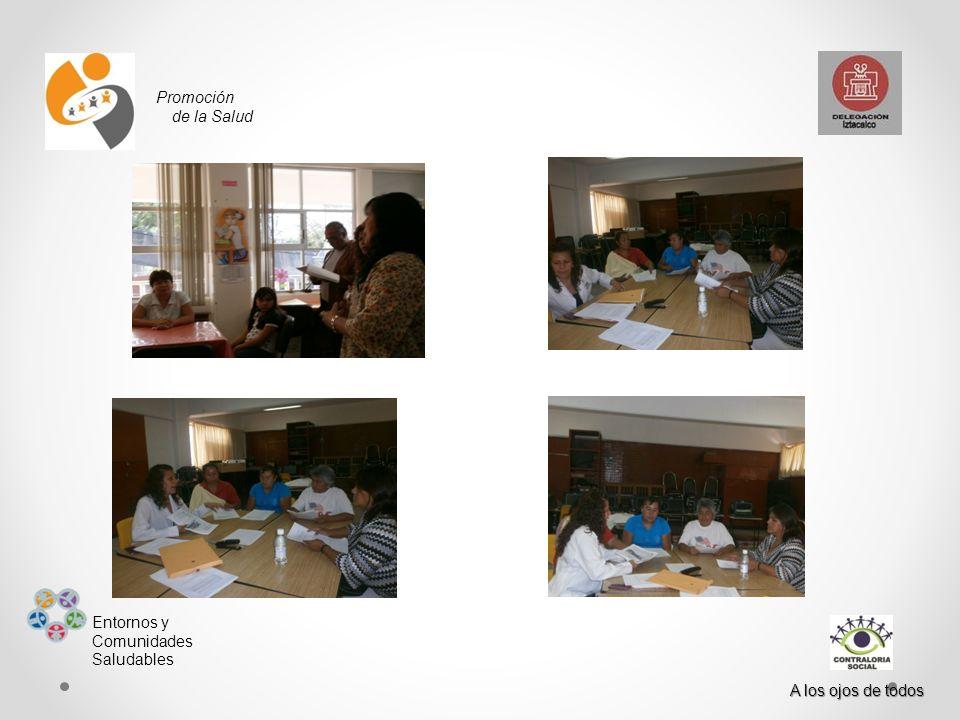 Promoción de la Salud Entornos y Comunidades Saludables A los ojos de todos