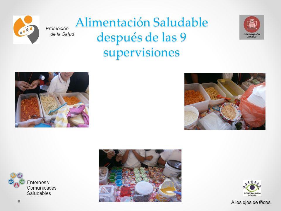 Alimentación Saludable después de las 9 supervisiones