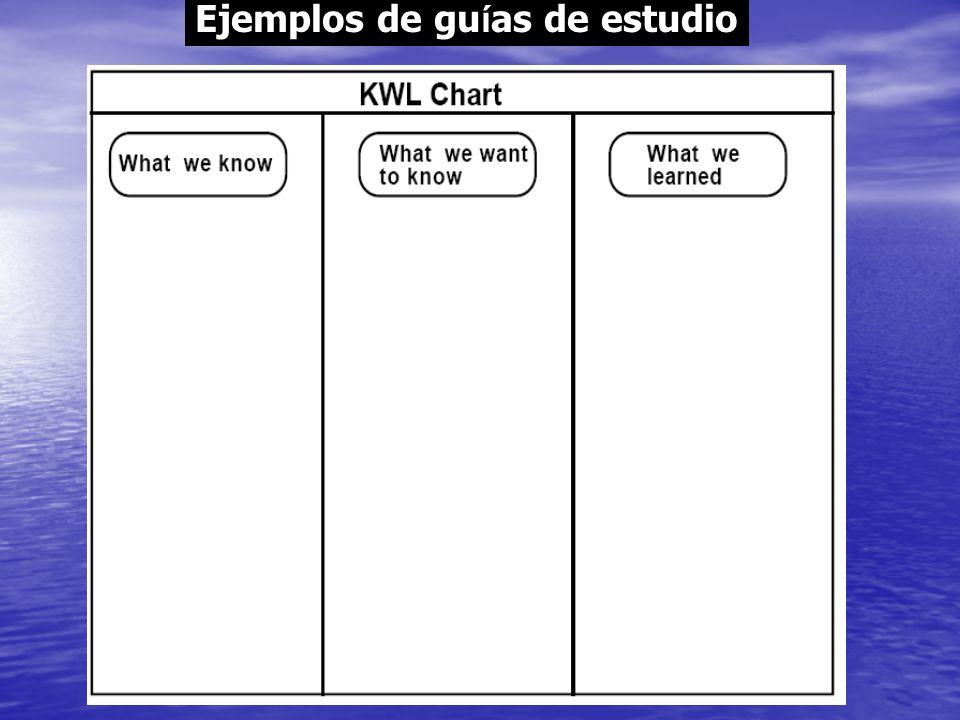 Ejemplos de guías de estudio