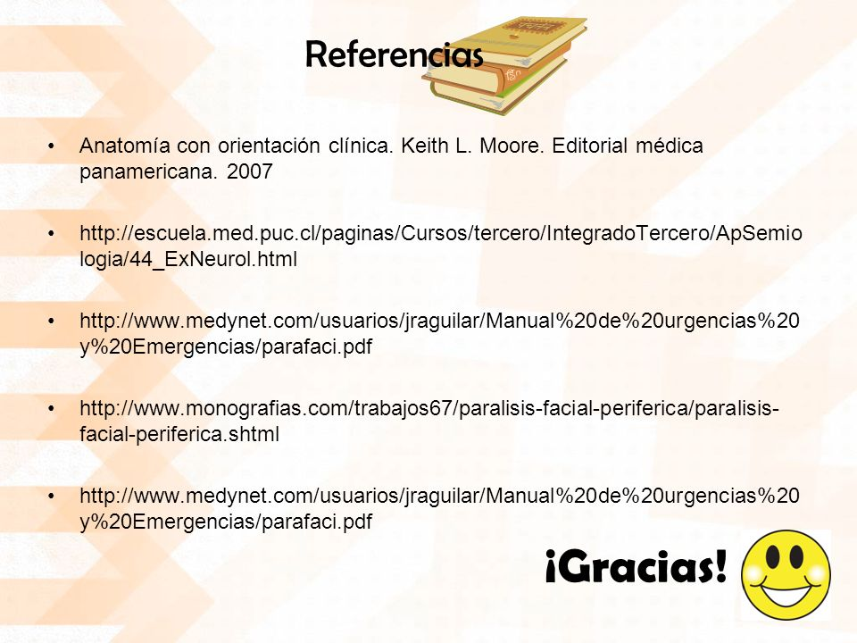 Referencias Anatomía con orientación clínica. Keith L. Moore. Editorial médica panamericana. 2007.