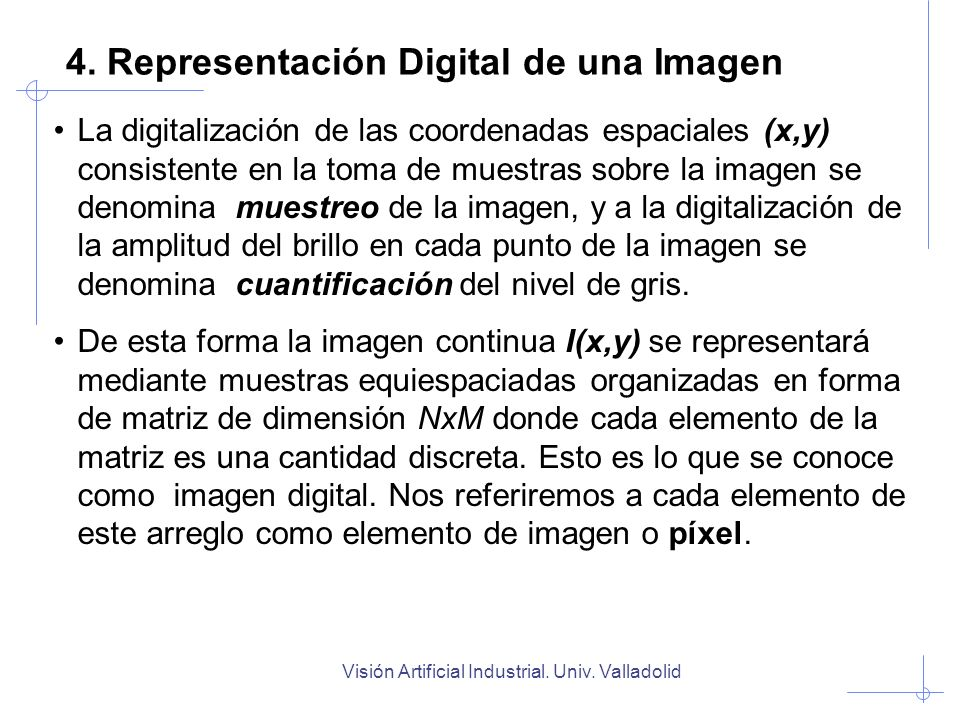 4. Representación Digital de una Imagen