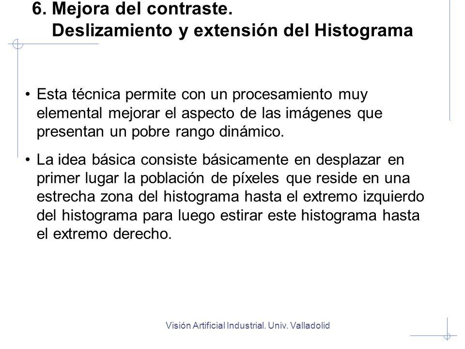 6. Mejora del contraste. Deslizamiento y extensión del Histograma