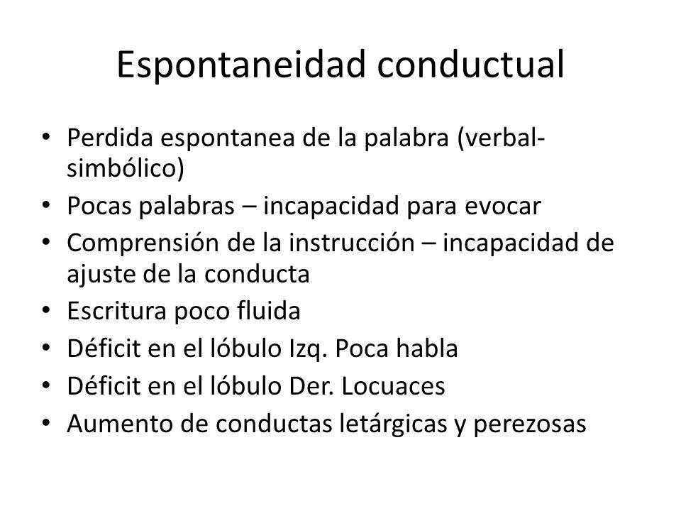 Espontaneidad conductual