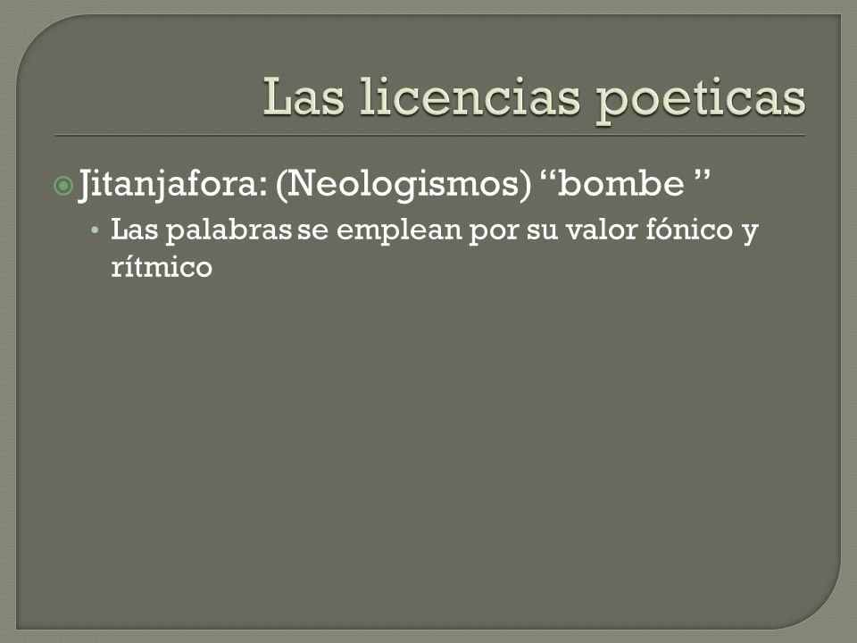 Las licencias poeticas