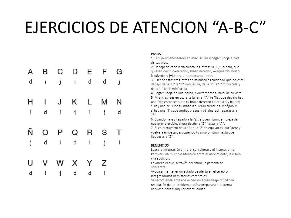 EJERCICIOS DE ATENCION A-B-C