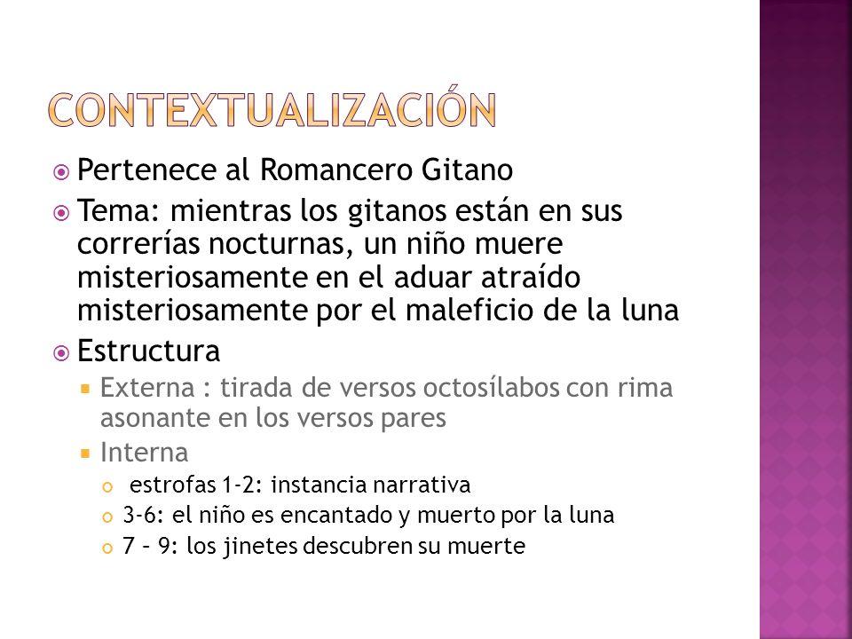 contextualización Pertenece al Romancero Gitano