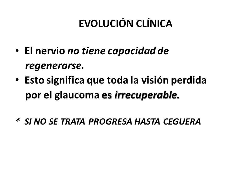 El nervio no tiene capacidad de regenerarse.