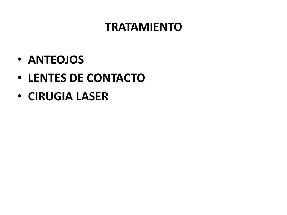TRATAMIENTO ANTEOJOS LENTES DE CONTACTO CIRUGIA LASER