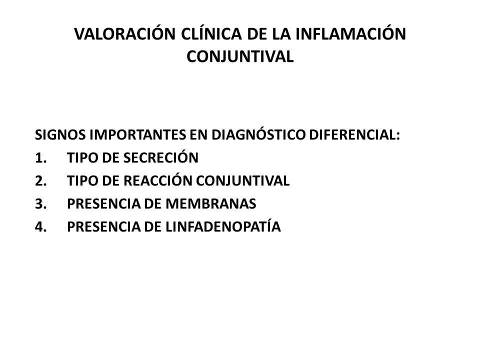 VALORACIÓN CLÍNICA DE LA INFLAMACIÓN CONJUNTIVAL