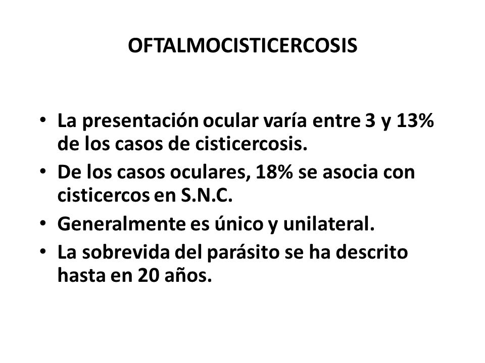 OFTALMOCISTICERCOSIS