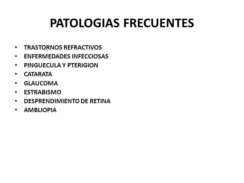 PATOLOGIAS FRECUENTES