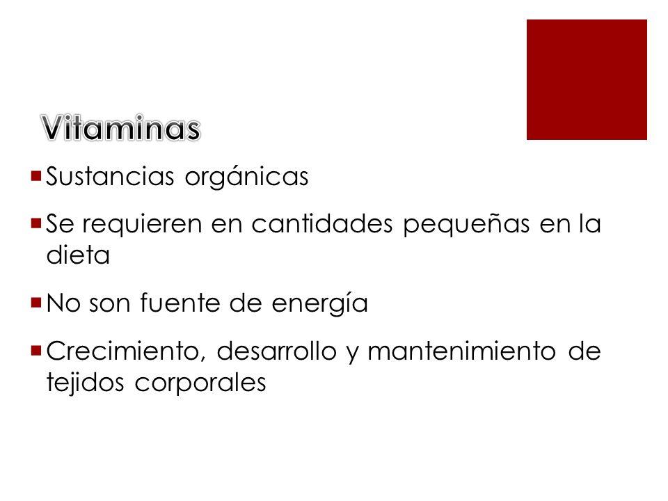 Vitaminas Sustancias orgánicas