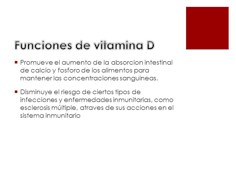 Funciones de vitamina D