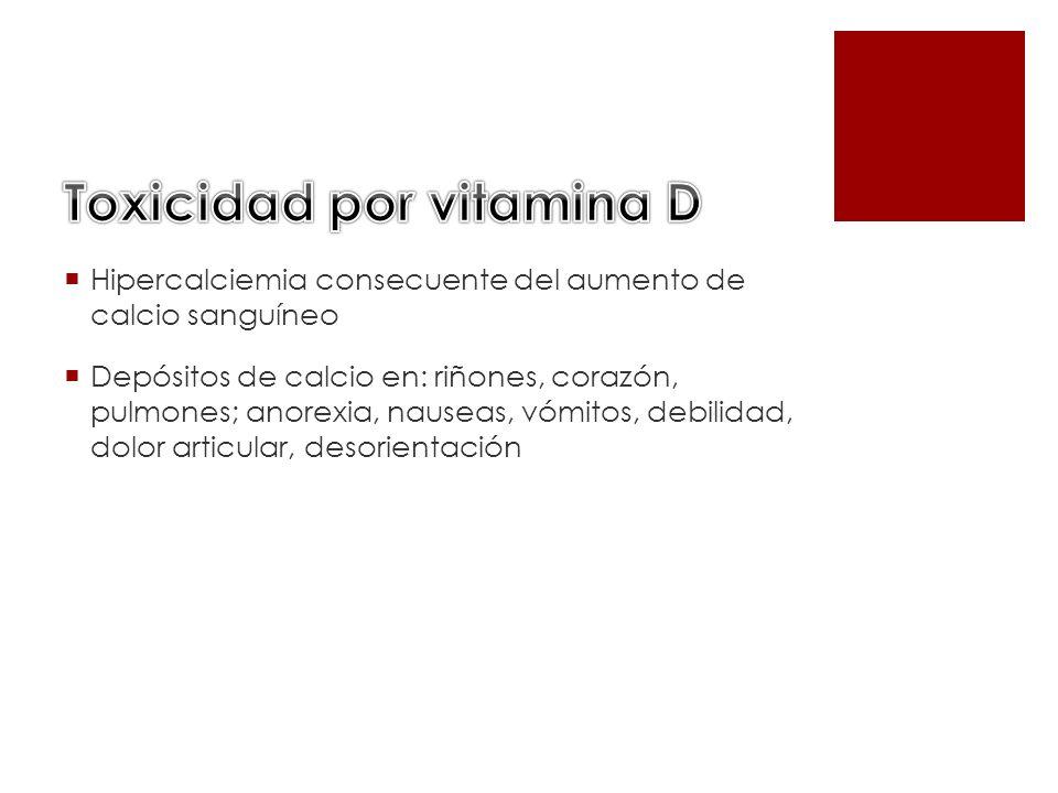 Toxicidad por vitamina D