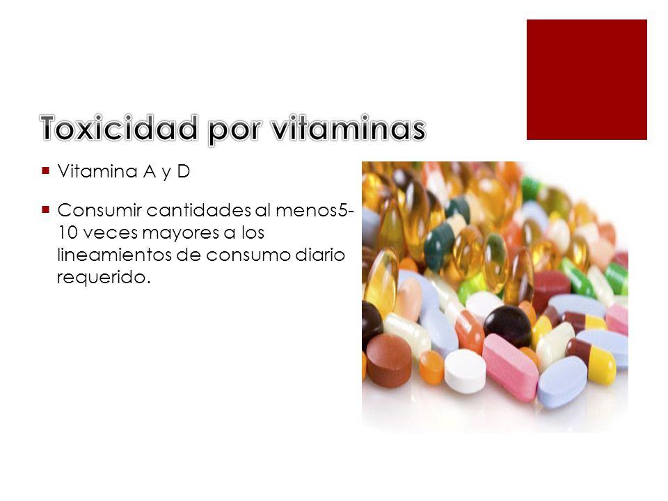 Toxicidad por vitaminas