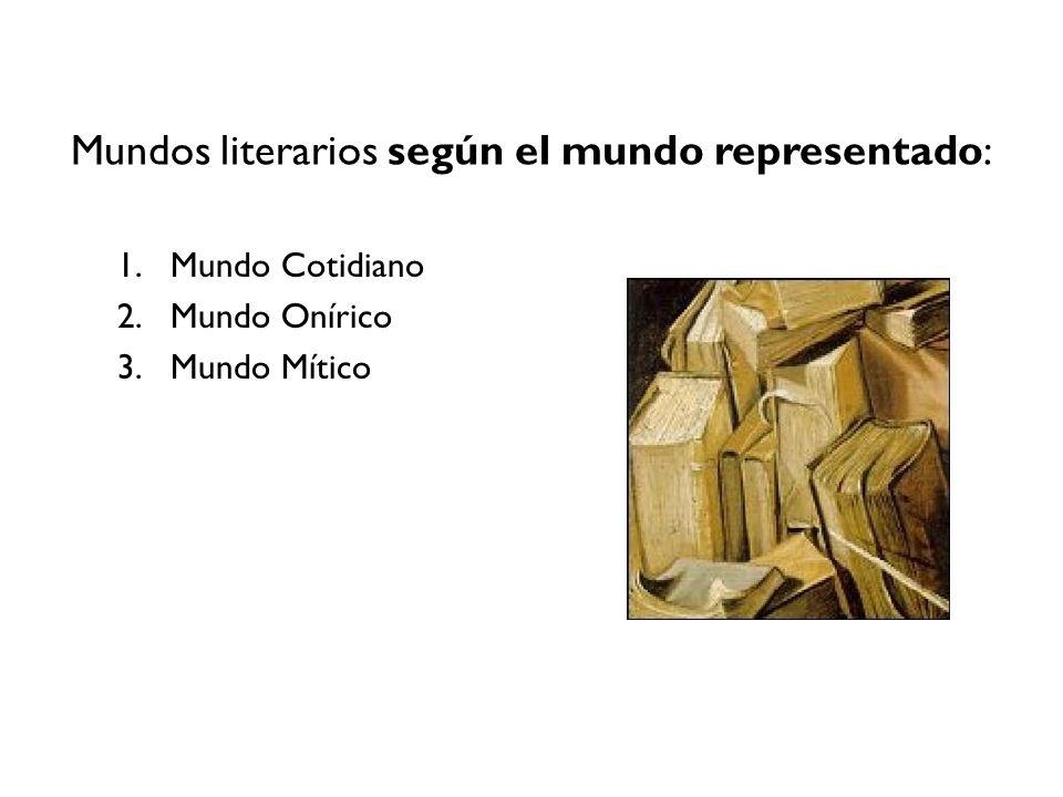 Mundos literarios según el mundo representado: