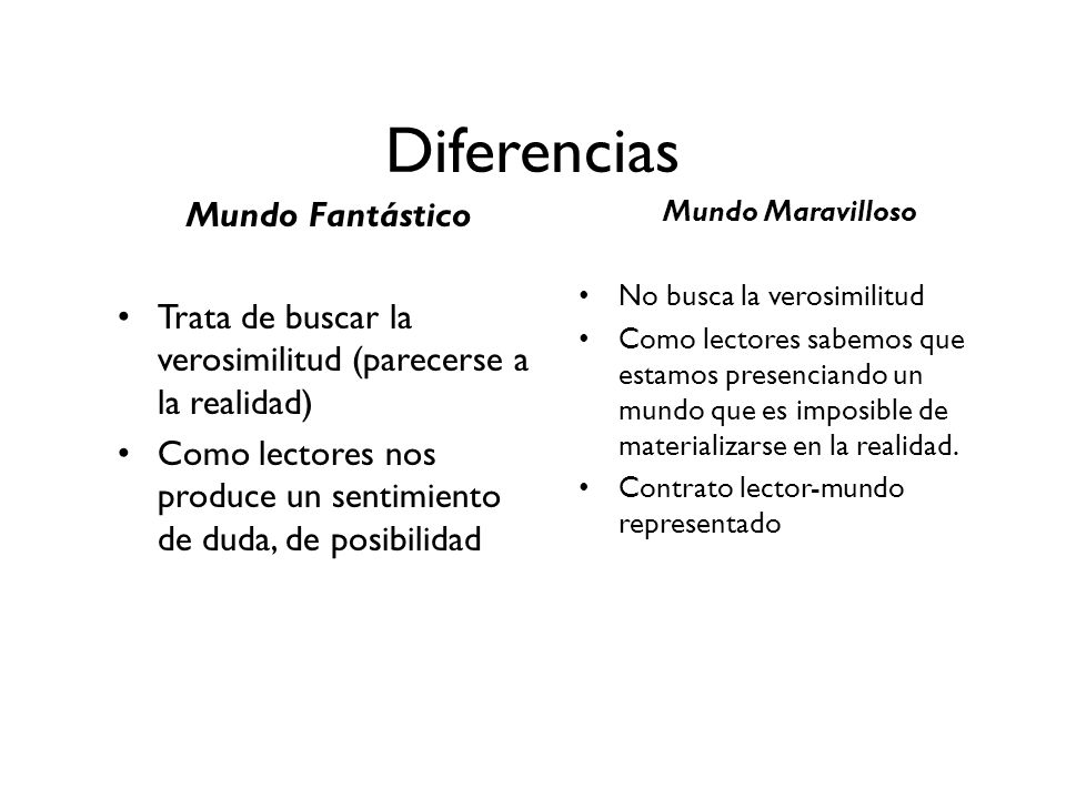 Diferencias Mundo Fantástico
