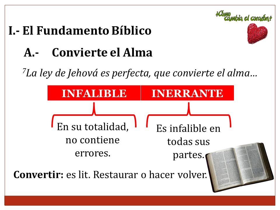 I.- El Fundamento Bíblico