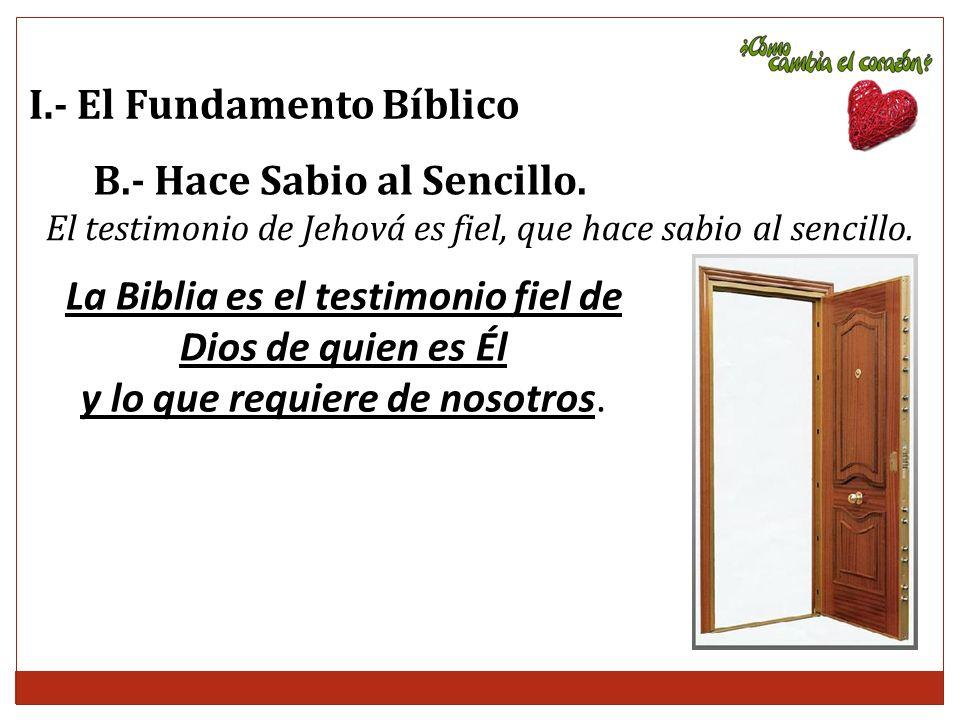 La Biblia es el testimonio fiel de Dios de quien es Él
