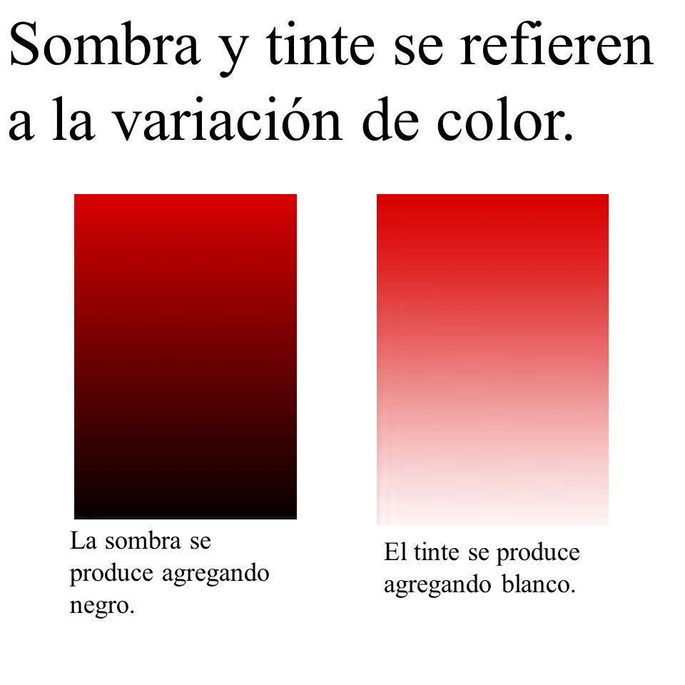 Sombra y tinte se refieren a la variación de color.