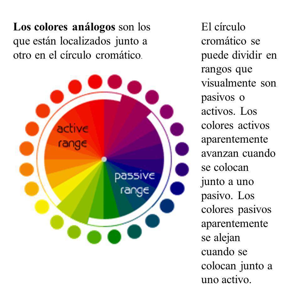 Los colores análogos son los que están localizados junto a otro en el círculo cromático.