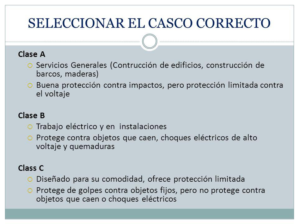 SELECCIONAR EL CASCO CORRECTO