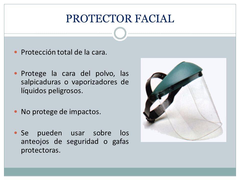 PROTECTOR FACIAL Protección total de la cara.