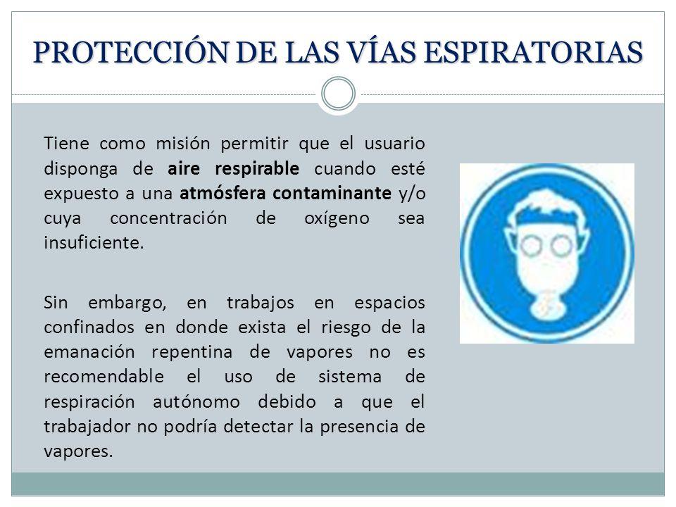 PROTECCIÓN DE LAS VÍAS ESPIRATORIAS