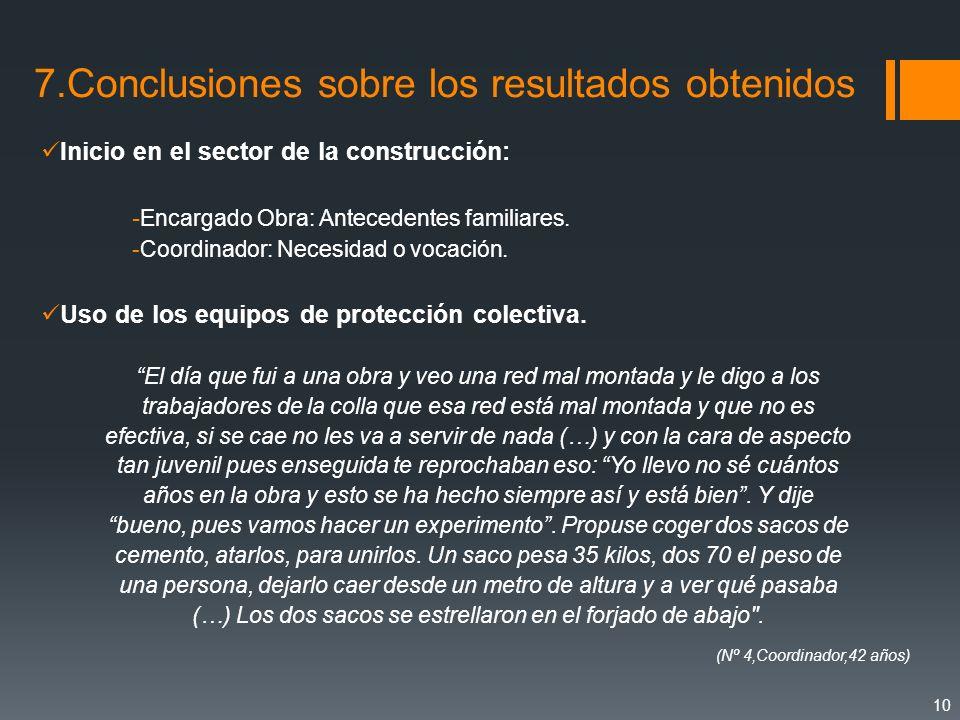 7.Conclusiones sobre los resultados obtenidos