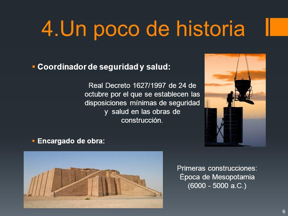 Primeras construcciones: Época de Mesopotamia (6000 - 5000 a.C.)