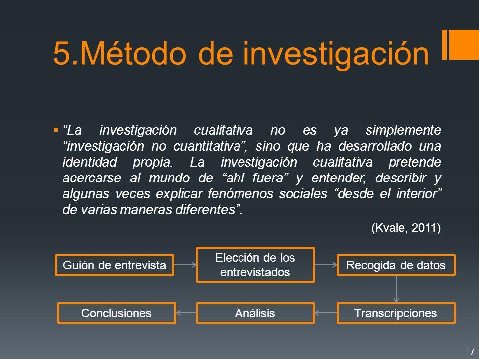 5.Método de investigación