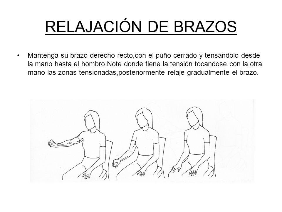 RELAJACIÓN DE BRAZOS