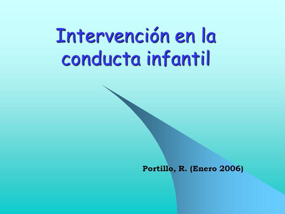 Intervención en la conducta infantil