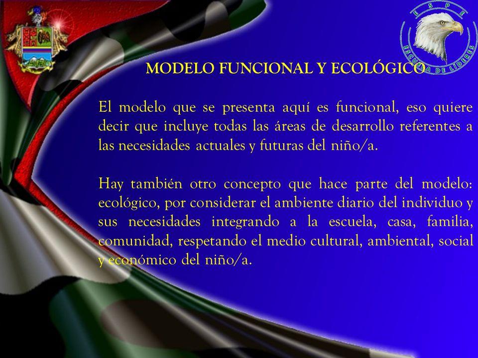 MODELO FUNCIONAL Y ECOLÓGICO