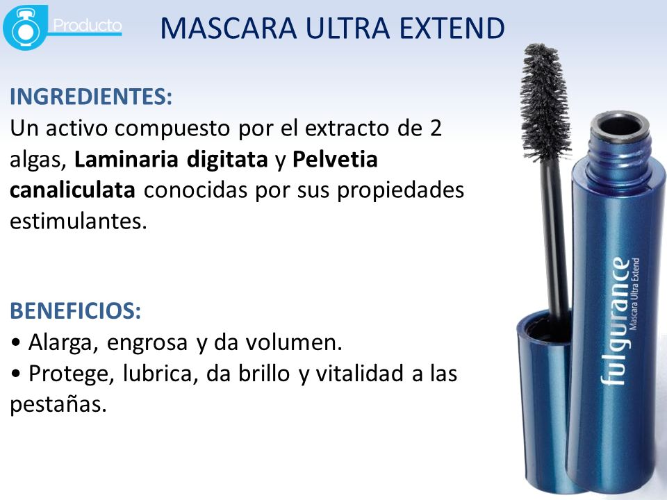 MASCARA ULTRA EXTEND INGREDIENTES: