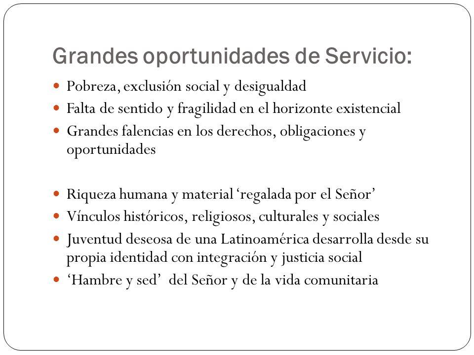 Grandes oportunidades de Servicio: