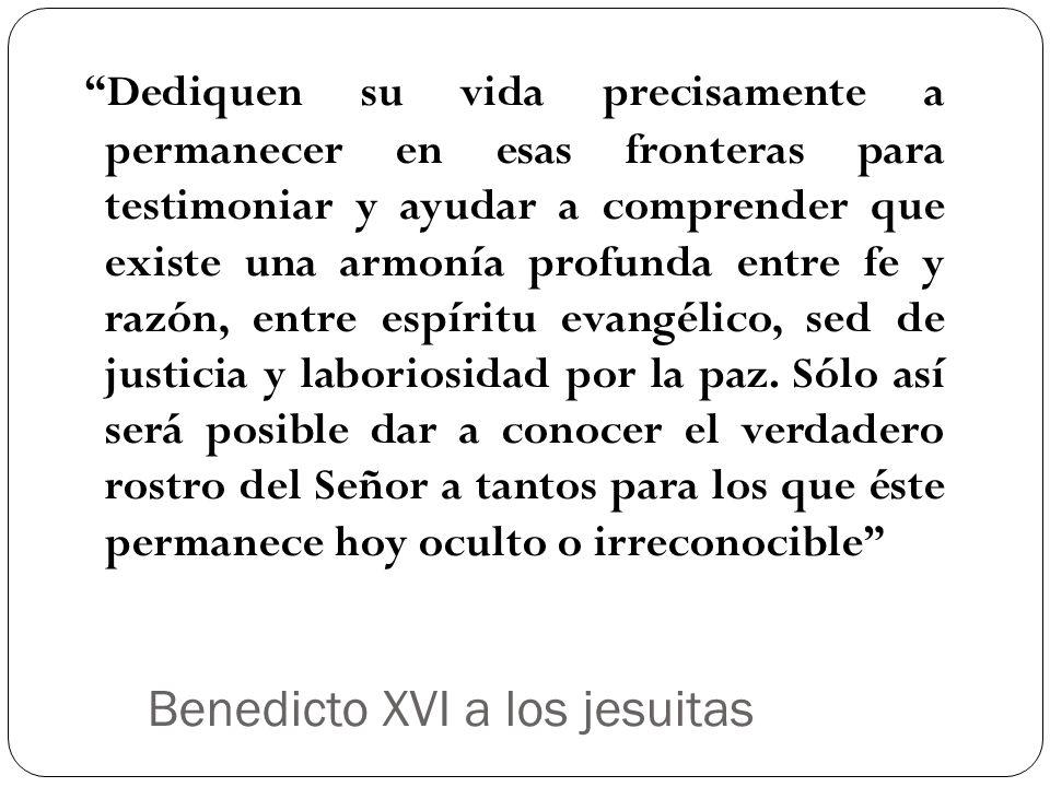 Benedicto XVI a los jesuitas