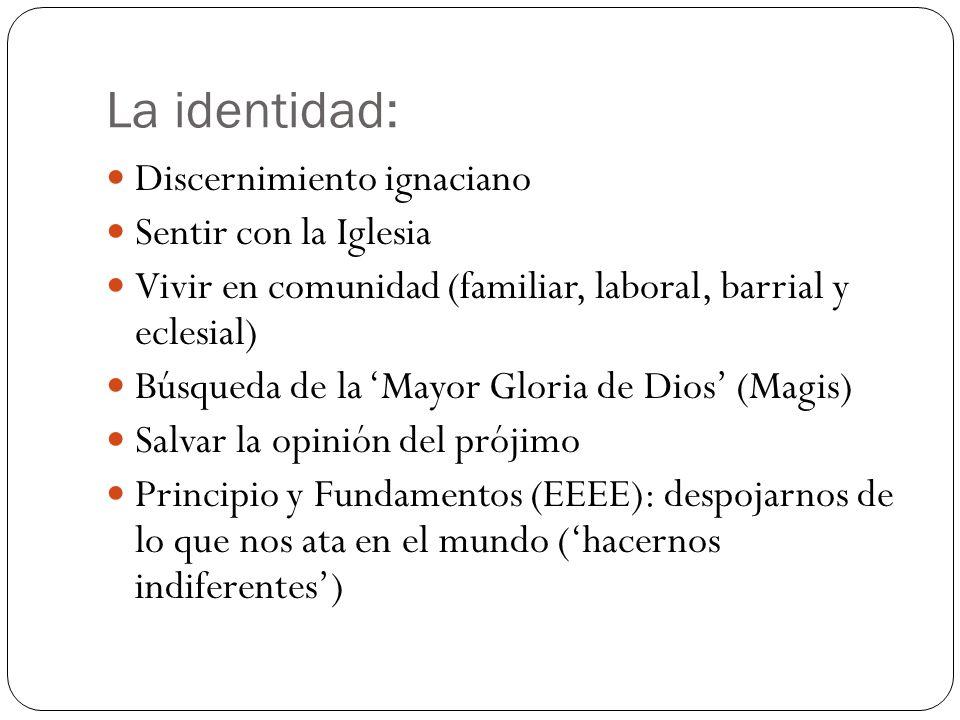La identidad: Discernimiento ignaciano Sentir con la Iglesia