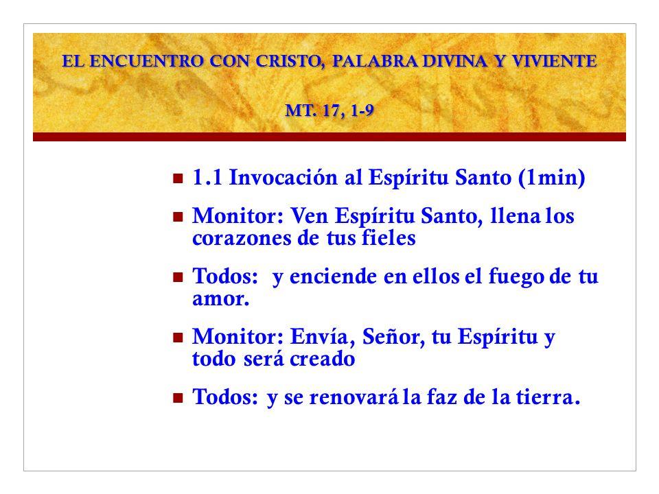 EL ENCUENTRO CON CRISTO, PALABRA DIVINA Y VIVIENTE MT. 17, 1-9