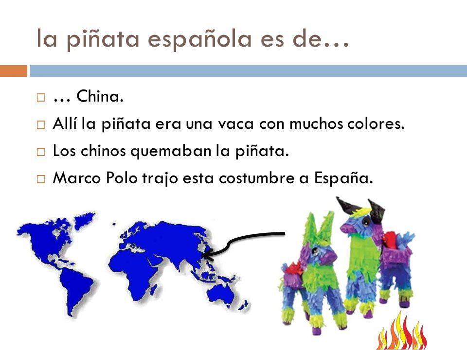 la piñata española es de…
