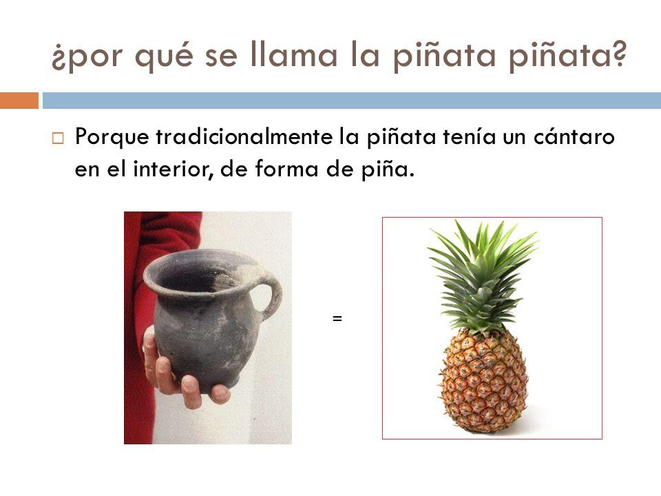 ¿por qué se llama la piñata piñata