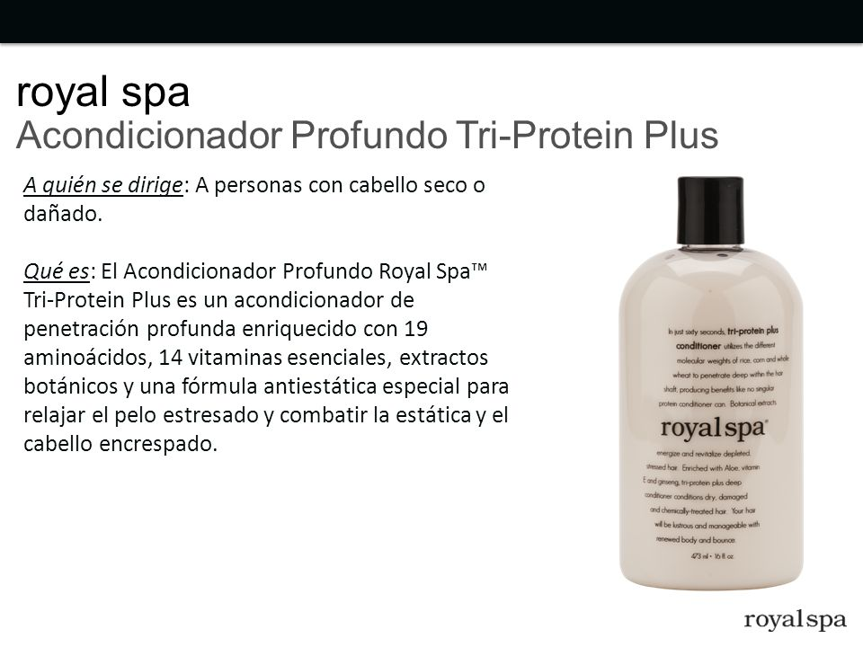 royal spa Acondicionador Profundo Tri-Protein Plus