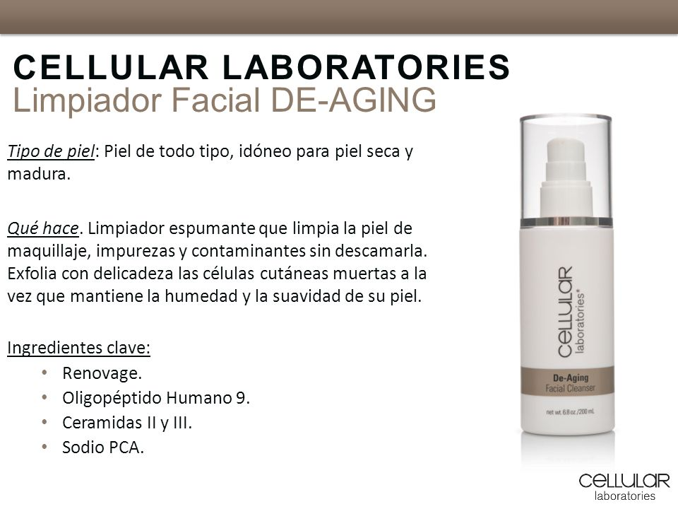 CELLULAR LABORATORIES Limpiador Facial DE-AGING