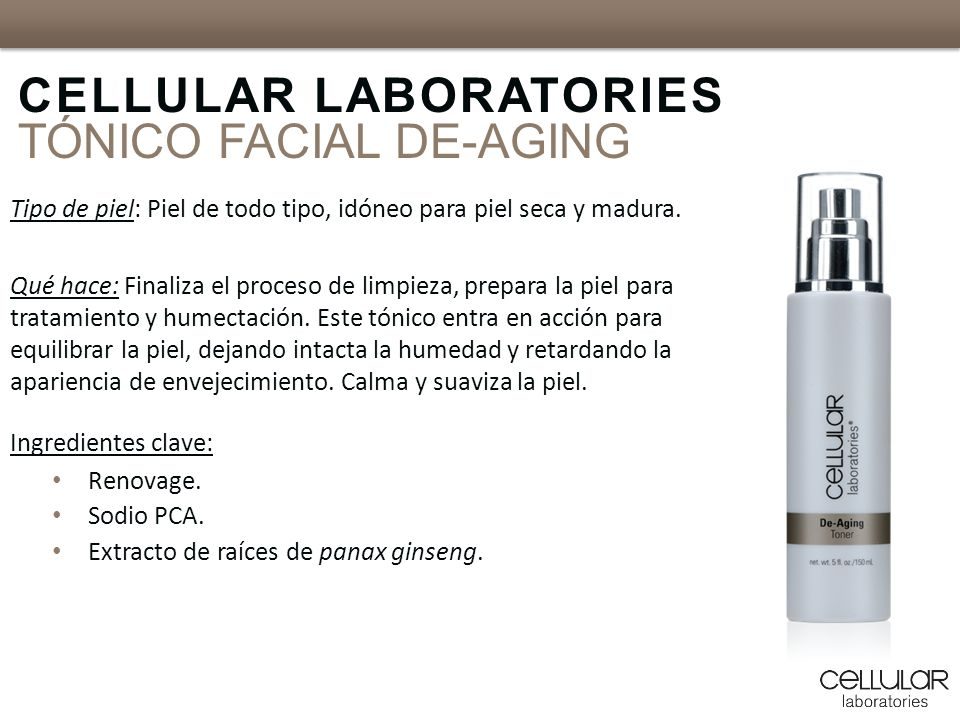CELLULAR LABORATORIES TÓNICO FACIAL DE-AGING