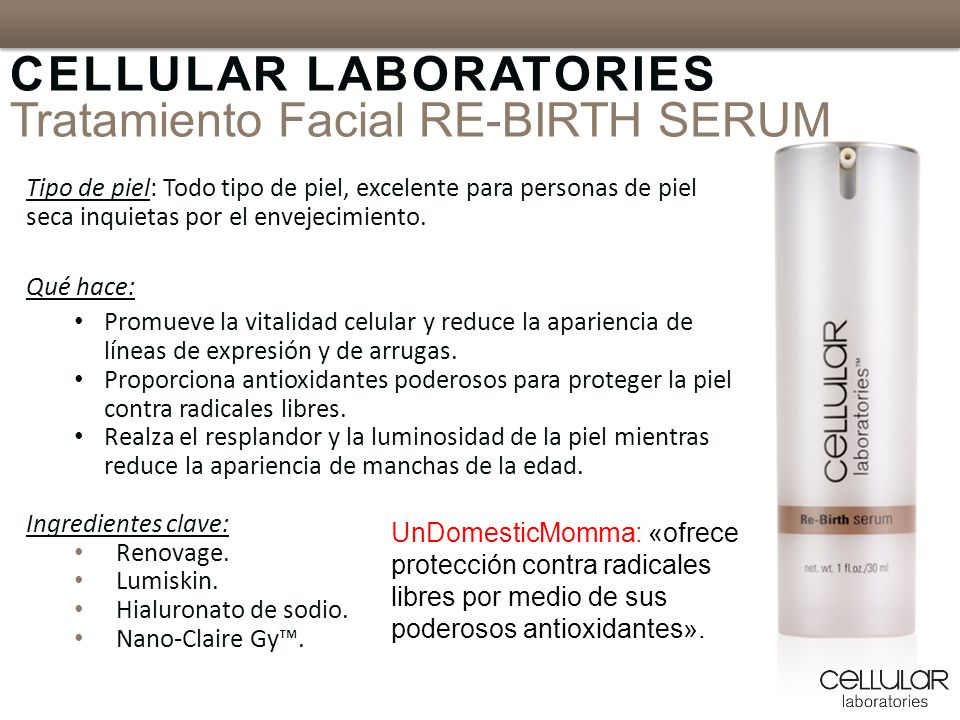 CELLULAR LABORATORIES Tratamiento Facial RE-BIRTH SERUM